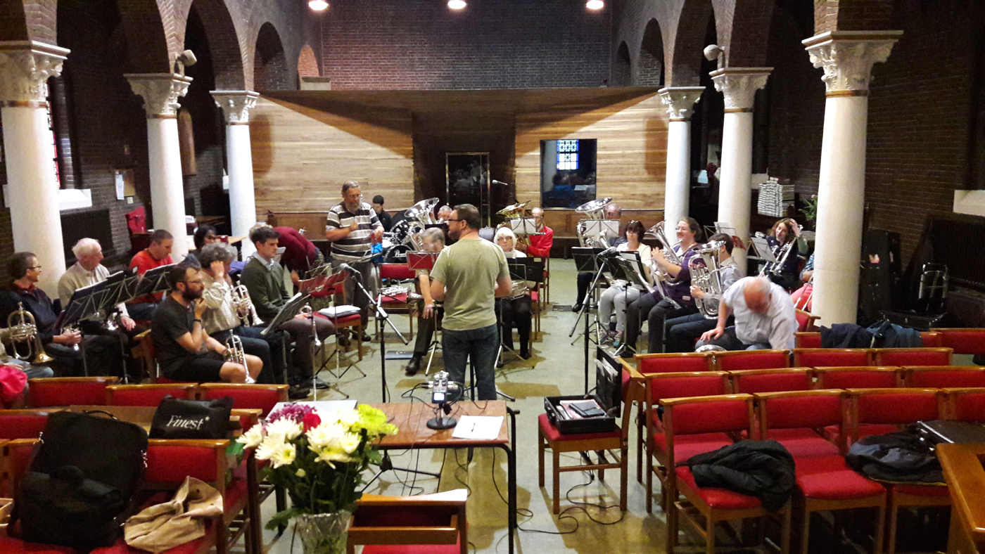 St George's Brass Band in Rehearsal, July 2016